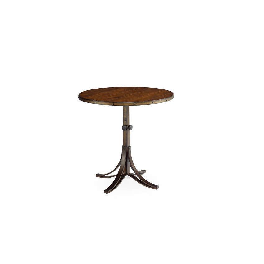 ROUND ADJUSTABLE ACCENT TABLE