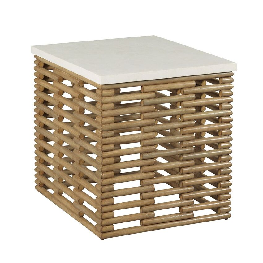 HIDDEN TREASURES-RATTAN RECT END TABLE