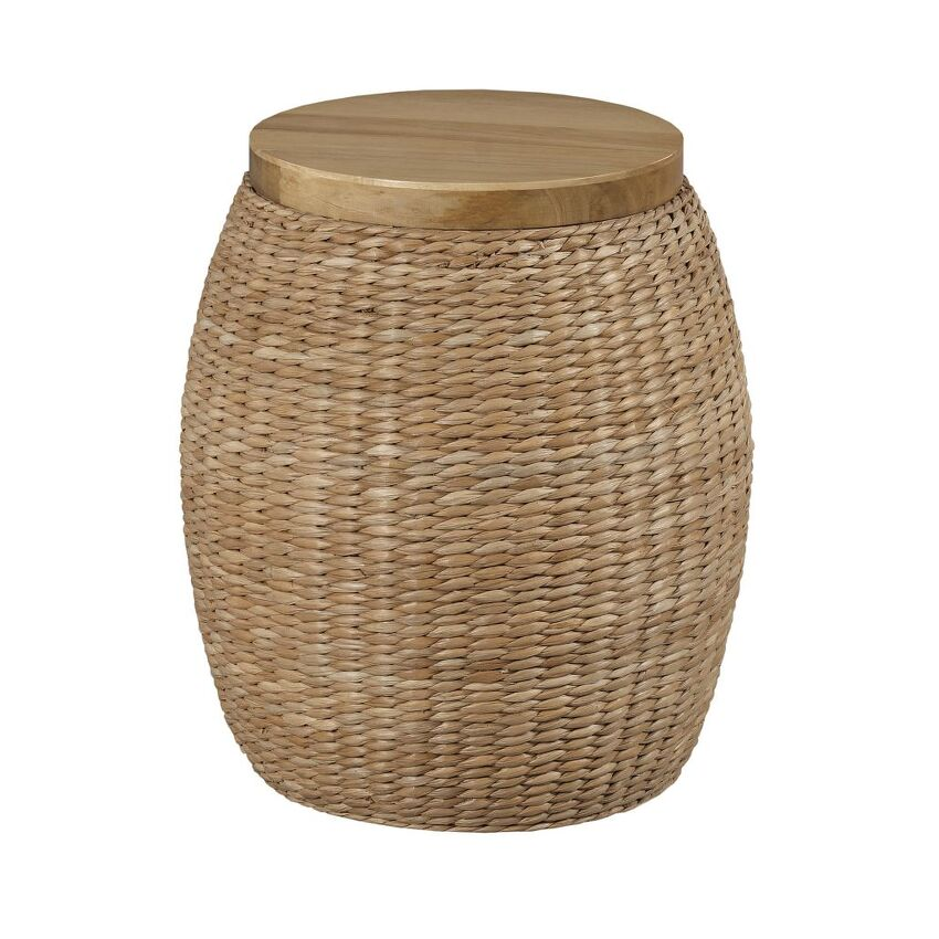 HIDDEN TREASURES-RATTAN ROUND END TABLE