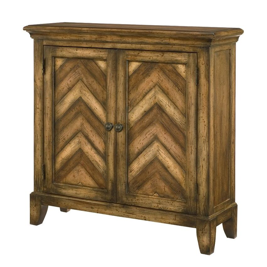 HIDDEN TREASURES-Chevron Cabinet
