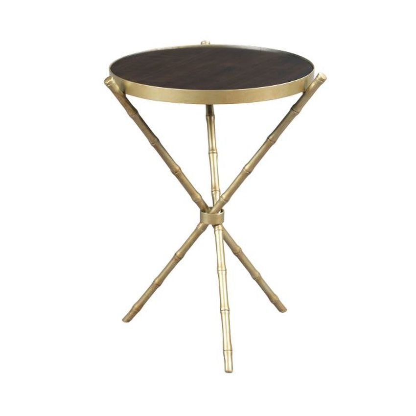 HIDDEN TREASURES-Metal Bamboo Table