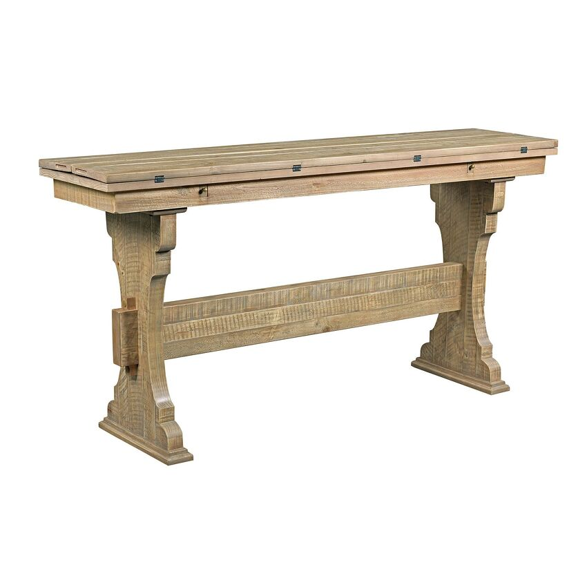 HIDDEN TREASURES-Trestle Flip Top Table