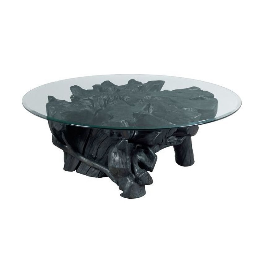 HIDDEN TREASURES-Charred Rootball Cocktail Table