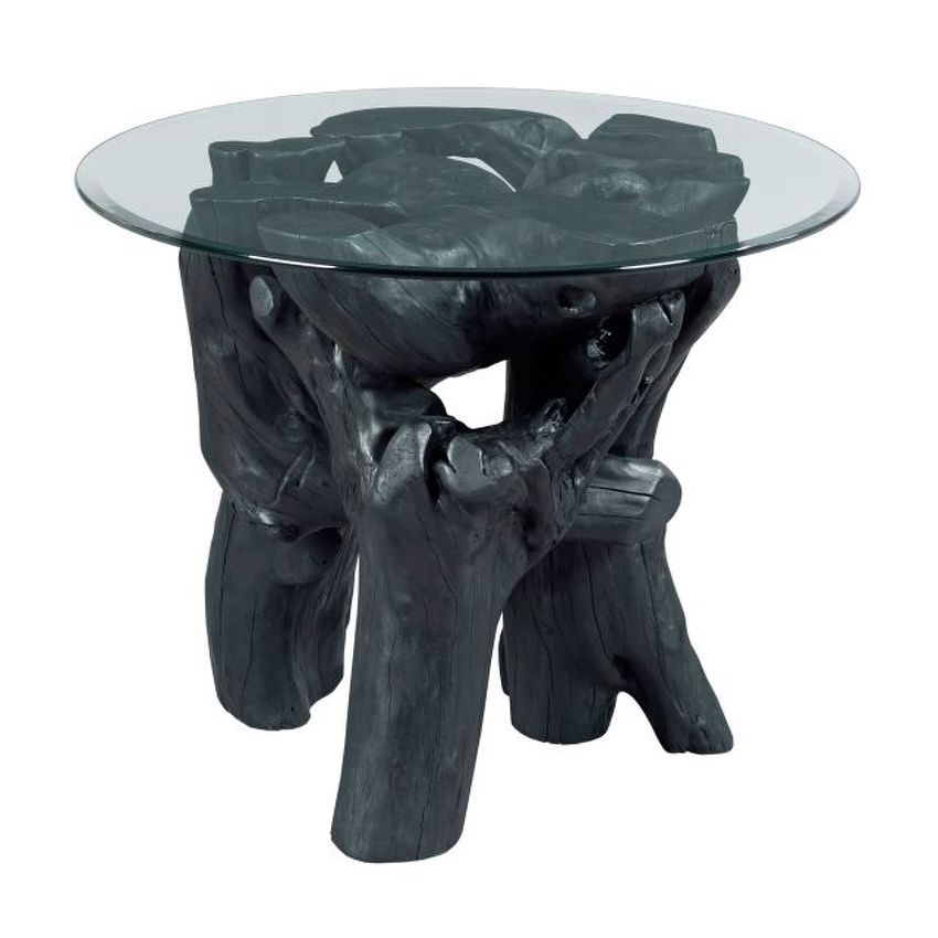 HIDDEN TREASURES-Charred Root Ball End Table