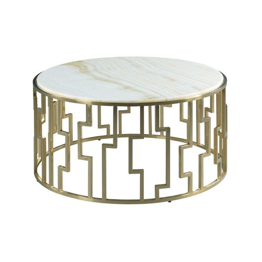 HIDDEN TREASURES-Geometric Cocktail Table