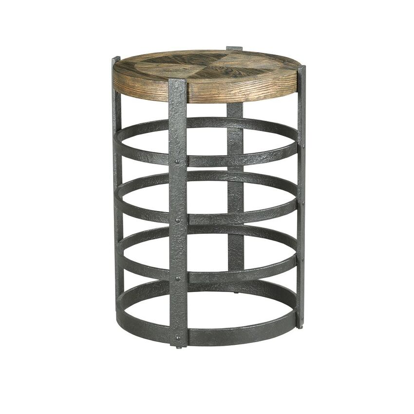 -BARREL STRAP END TABLE