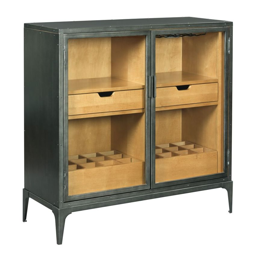 HIDDEN TREASURES-METAL HALL CABINET