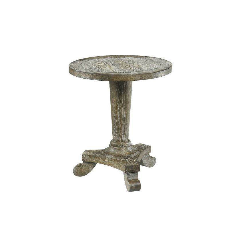 DRIFTWOOD ROUND PEDESTAL TABLE