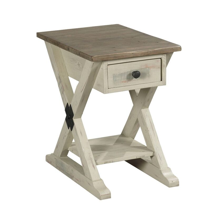 RECLAMATION PLACE-Trestle Chairside Table