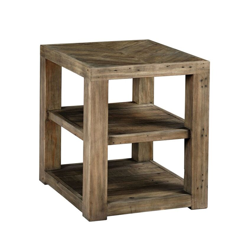 RECLAMATION PLACE-SHELF END TABLE