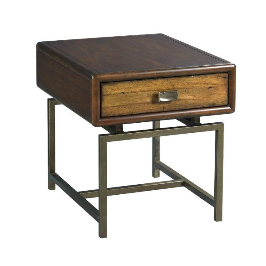 ZODIAC-Rectangular Drawer End Table
