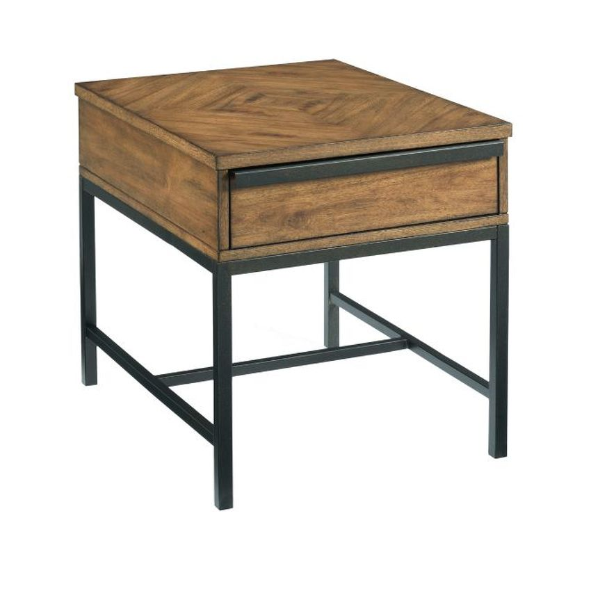 -Rectangular Drawer End Table