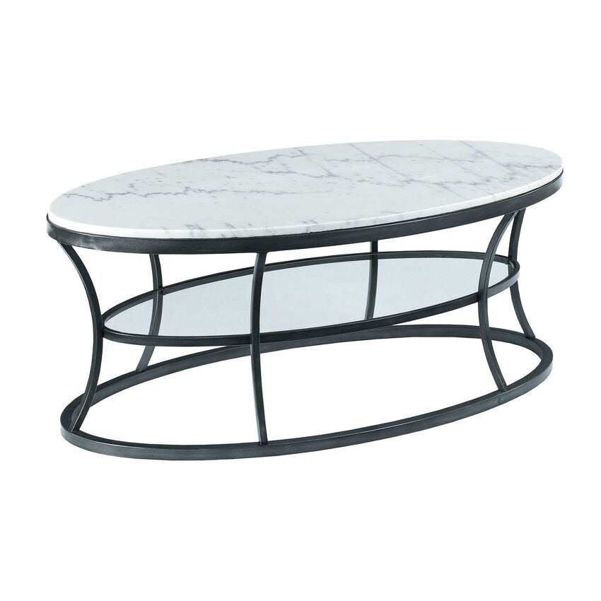 -Oval Cocktail Table