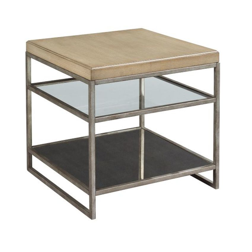 -Mixed Media Square End Table