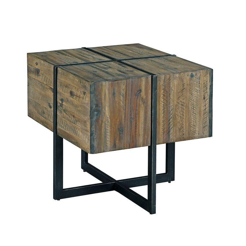 Modern Timber-Accent End Table