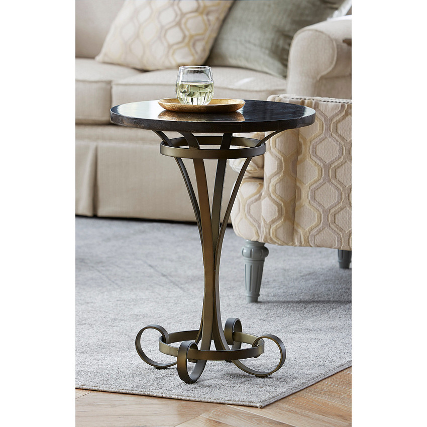 LOUISE ROUND LAMP TABLE - 2