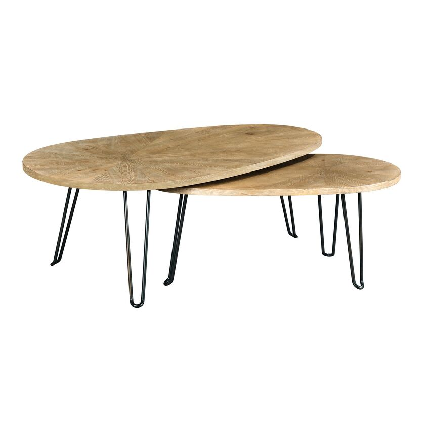 OBLIQUE-BUNCHING COCKTAIL TABLE