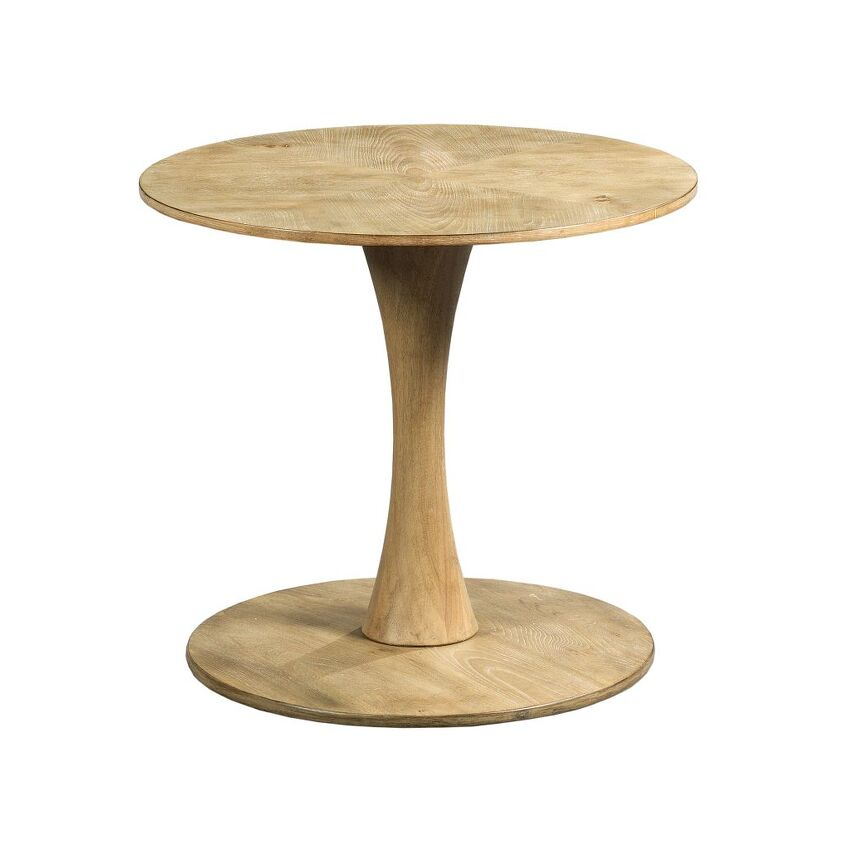 OBLIQUE-ROUND END TABLE