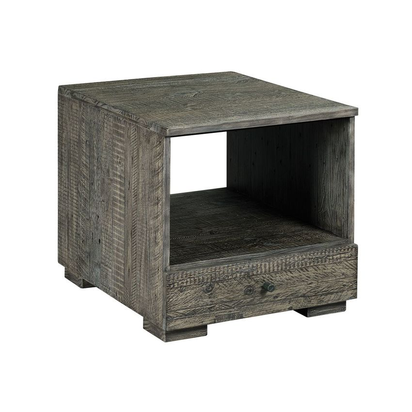RECLAMATION PLACE-SHIPLAP-RECTANGULAR DRAWER END TABLE