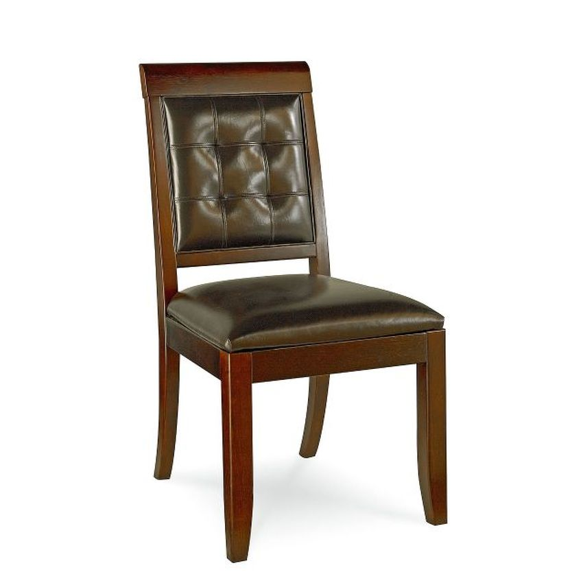 TRIBECCA-UPHOLSTERED LEATHER SIDE CHAIR-KD