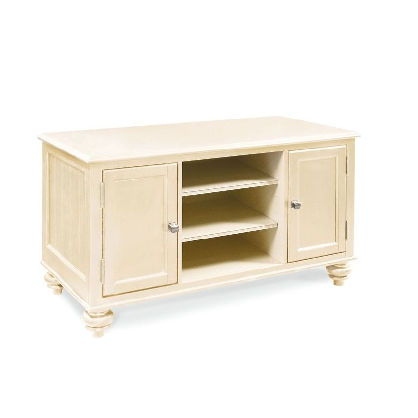 "CAMDEN(BUTTERMILK FINISH)-48"" ENTERTAINMENT CENTER-KD Feet"