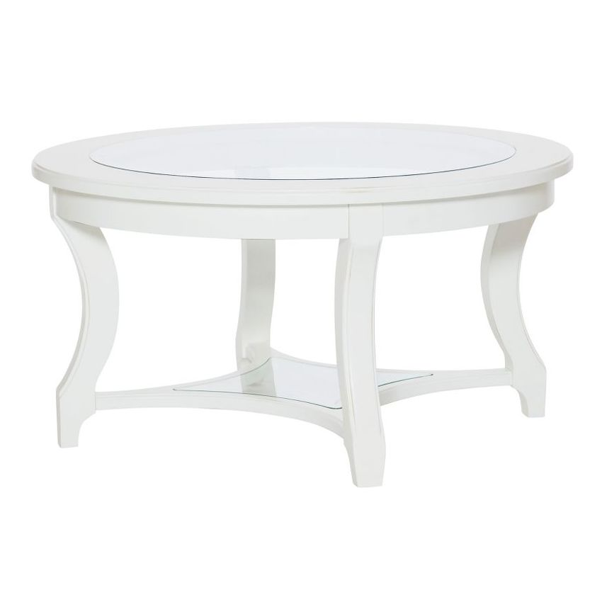 LYNN HAVEN-Round Glass Cocktail Table