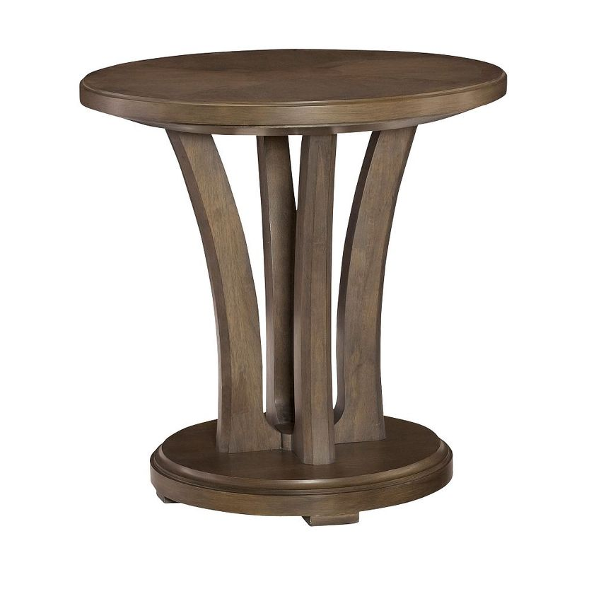 Round Lamp Table - 1