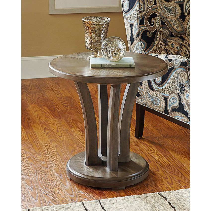 Round Lamp Table - 2