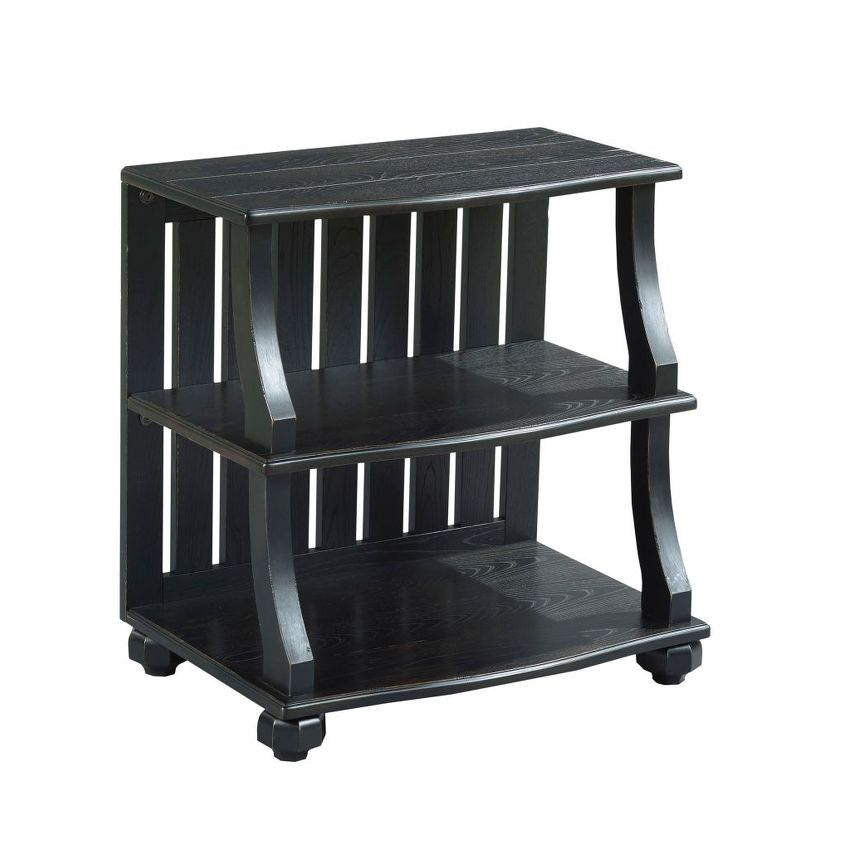 Open Chairside Table-Black