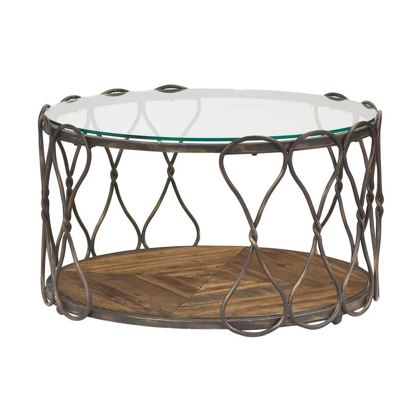 HIDDEN TREASURES-Round Cocktail Table