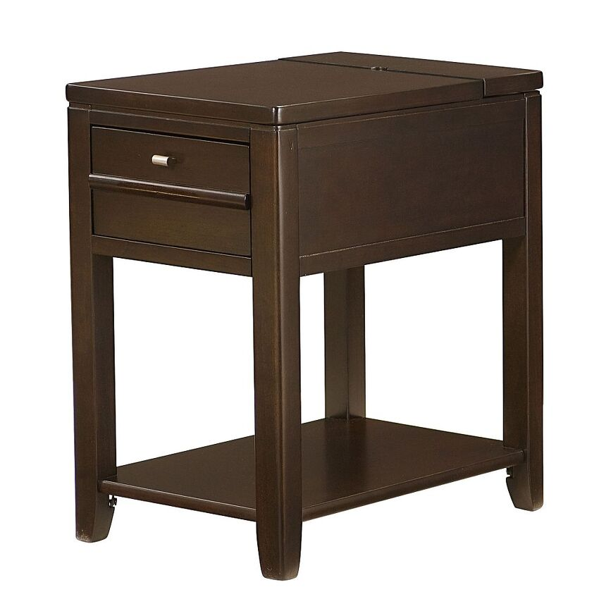 -DOWNTOWN CHAIRSIDE TABLE-ESPRESSO