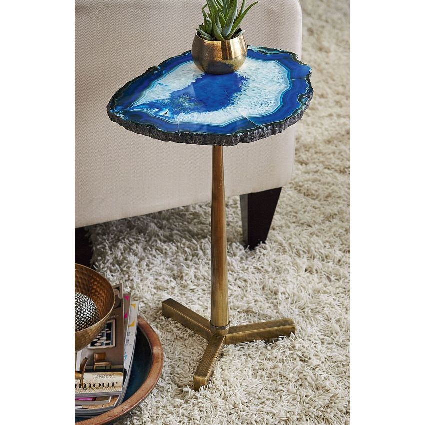 Blue Agate Table - 2