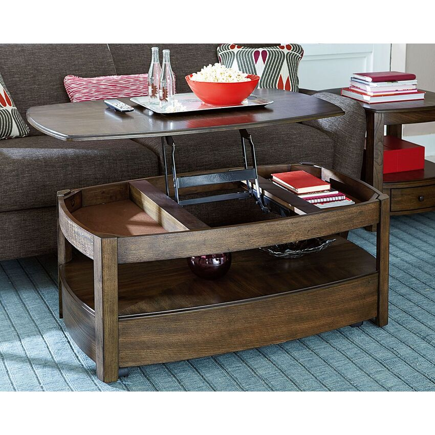 Rectangular Lift-Top Cocktail Table - 3