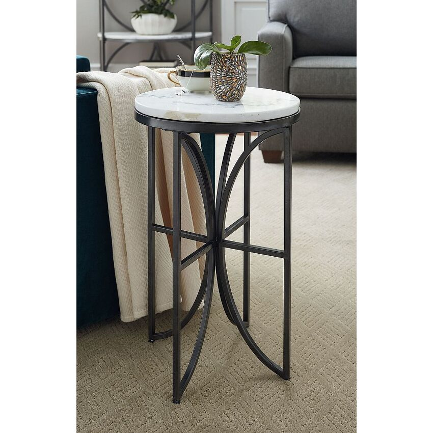 Small Round Accent Table - 2