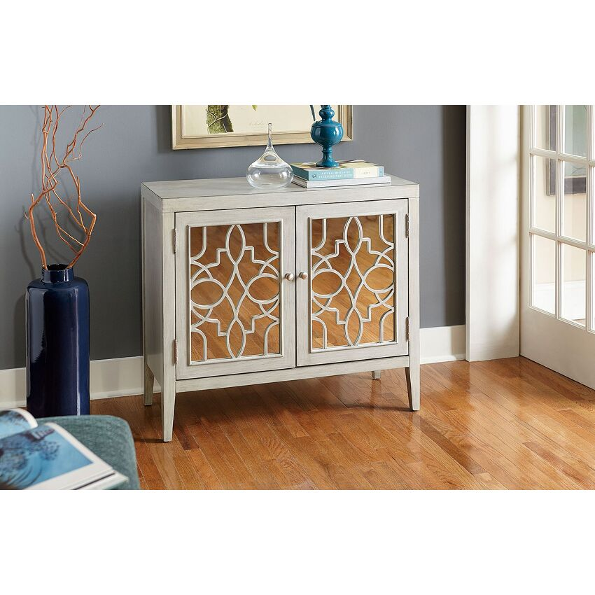 Mirrored Door Cabinet - 2