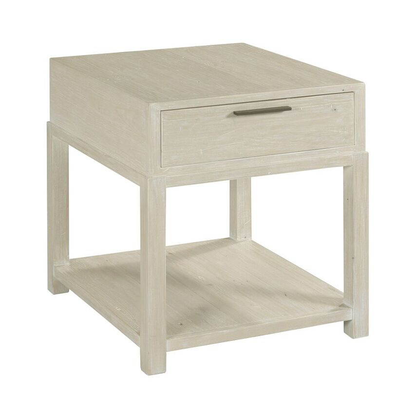 RECLAMATION PLACE-RECTANGULAR DRAWER END TABLE