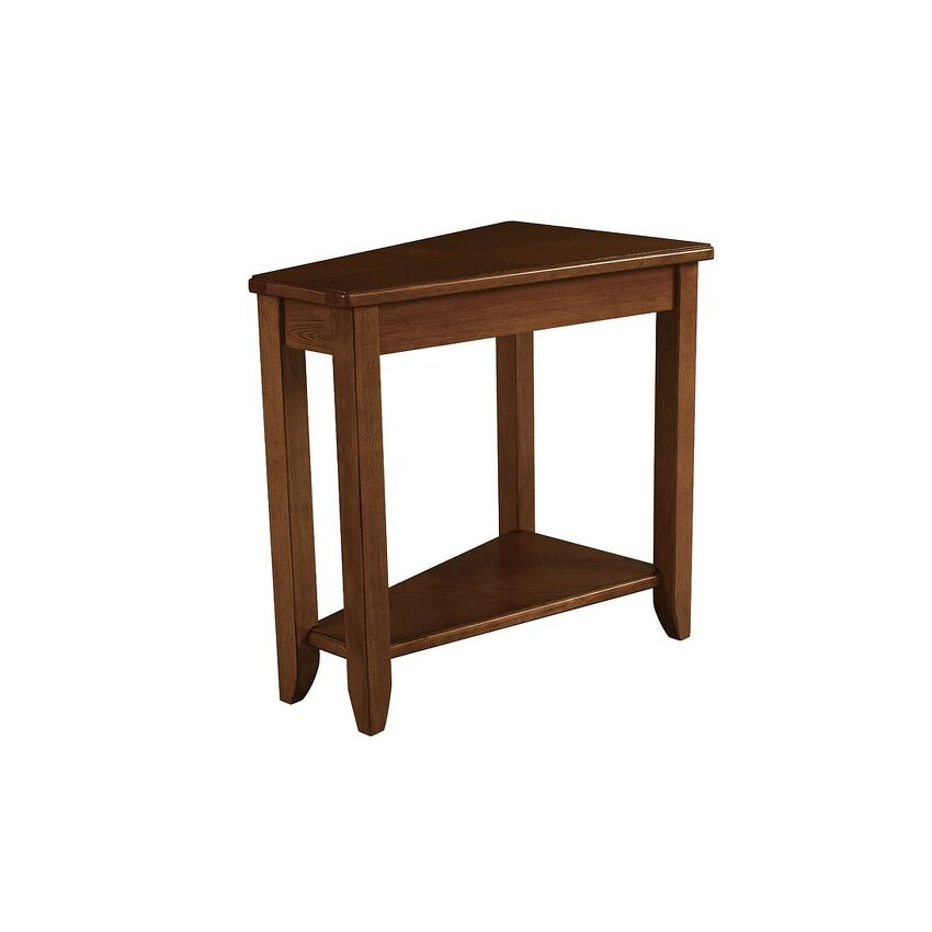 -WEDGE CHAIRSIDE TABLE-OAK