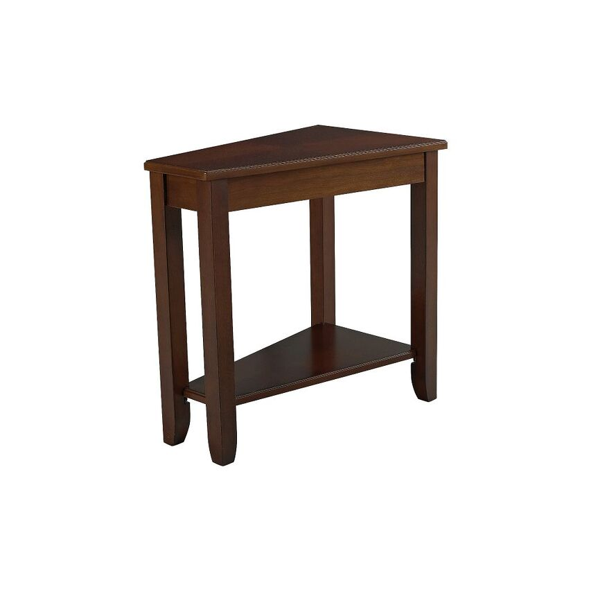 -WEDGE CHAIRSIDE TABLE-CHERRY
