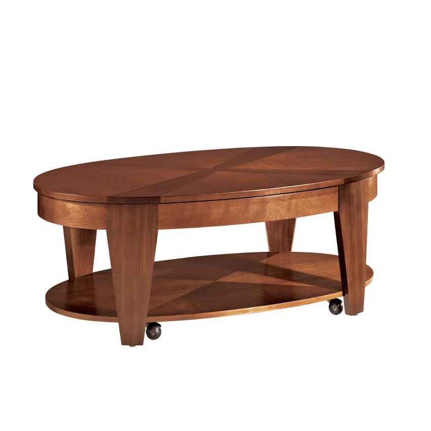 OASIS-Oval Cocktail Table W/ Lift-Top