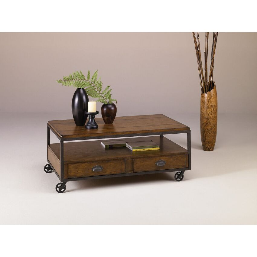 BAJA-Rectangular Storage Cocktail Table