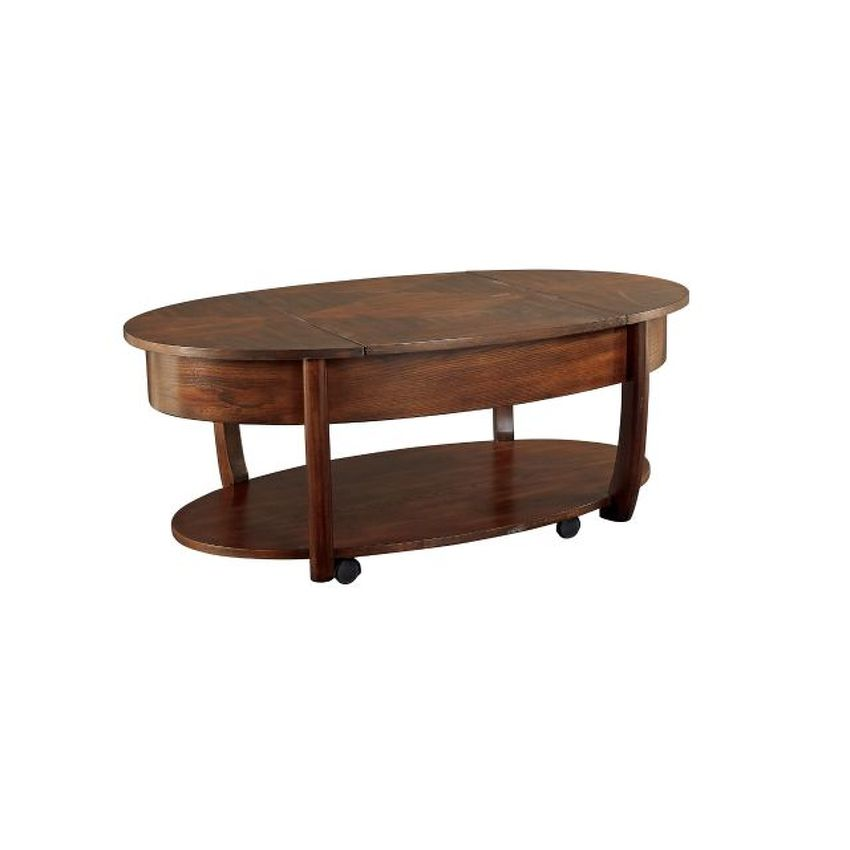 Oval Lift-Top Cocktail Table - 1