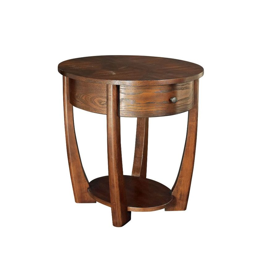 -Oval End Table